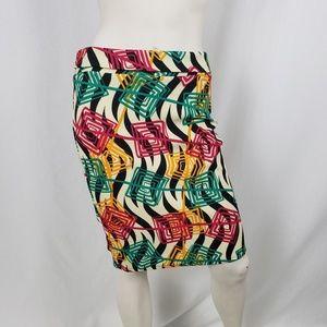 LulaRoe Pencil Skirt Women's Size Medium Colorful